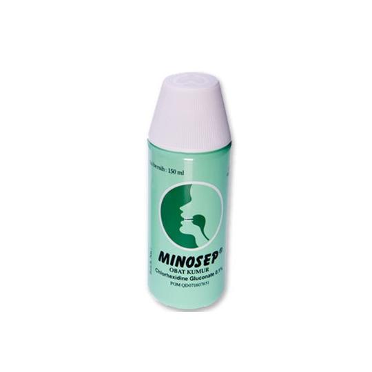 Minosep Obat Kumur 0.1% 150 ml (Hijau)