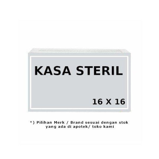 KASA STERIL 16 X 16 CM 12 PIECES