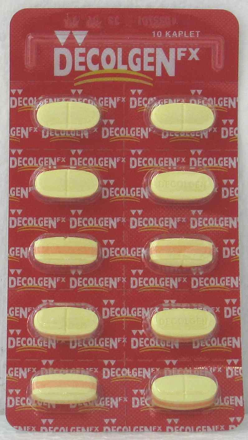 DECOLGEN FX 10 TABLET