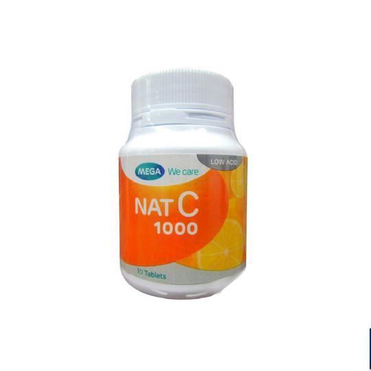 Mega We Care Nat C 1000 mg 10 Tablet