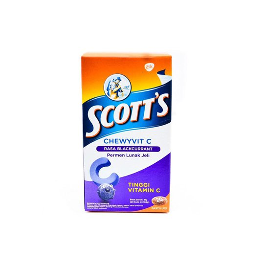 SCOTT CHEWYVIT C BLACKCURRANT 30 MG TABLET