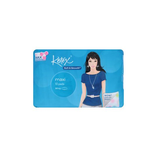 KOTEX SOFT SMOOTH MAXI 10 PADS