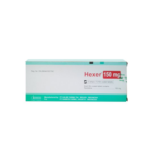 HEXER 150 MG 10 TABLET