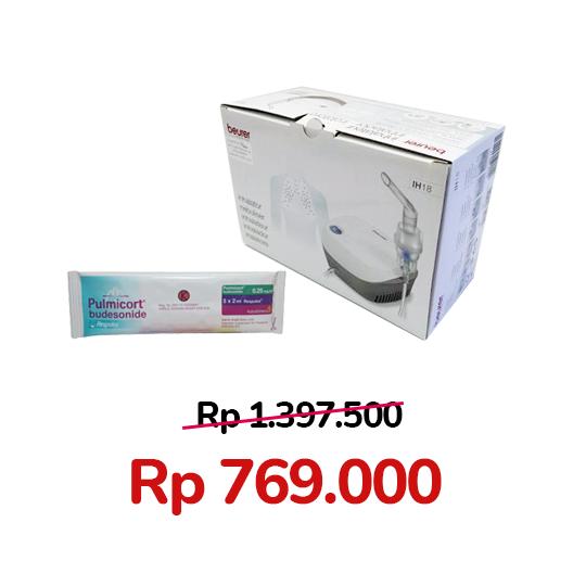 Paket Pulmicort 0.25 mg/ml 10 Respules + Beurer IH 18 Compressor Nebulizer