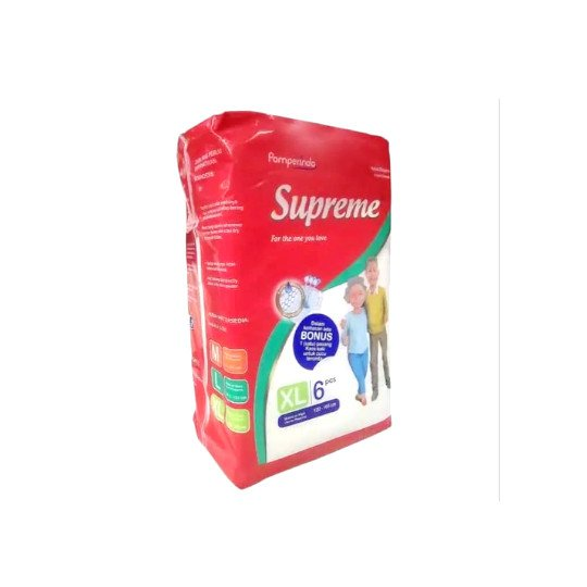 SUPREME ADULT DIAPERS XL 6 PIECES