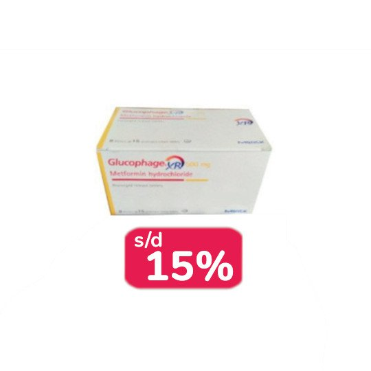 GLUCOPHAGE XR 500 MG 30 TABLET - OBAT RUTIN