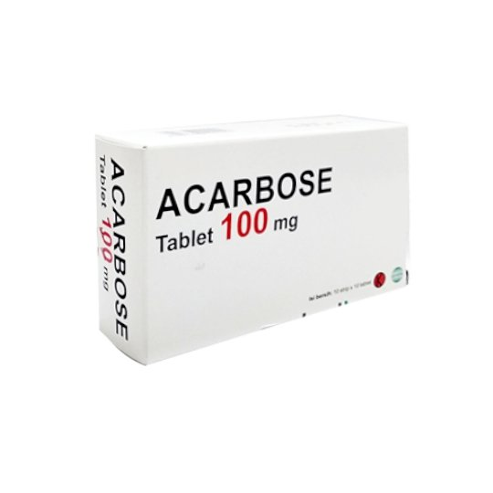 ACARBOSE 100 MG 10 TABLET