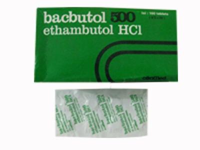 BACBUTOL 500 MG 8 TABLET