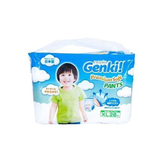 Nepia Genki Premium Soft Pants XL 26 Pieces