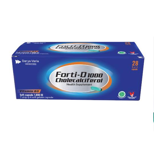 Forti-D 1000 Vitamin D3 4 Kapsul