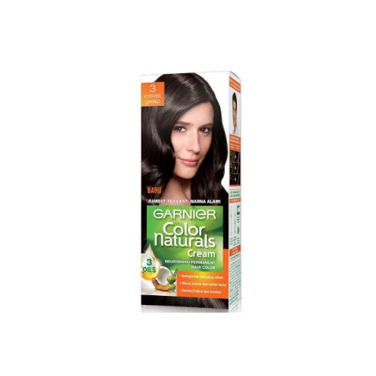GARNIER COLOR NATURALS 3 (COKLAT GELAP) 60 ML