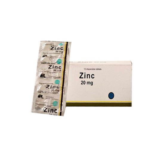 ZINC 20 MG 10 TABLET
