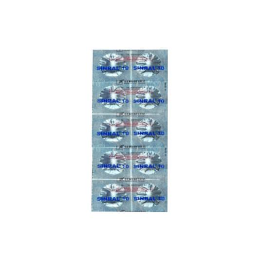 SINRAL 10 MG 10 TABLET