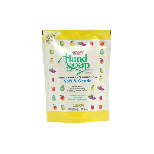 YURI HAND SOAP LEMON REFILL 375 ML