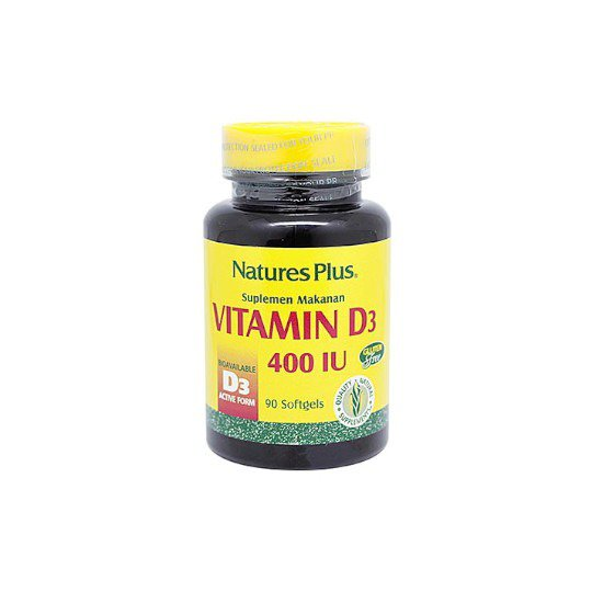 NATURE'S PLUS VITAMIN D3 400 IU 90 KAPSUL