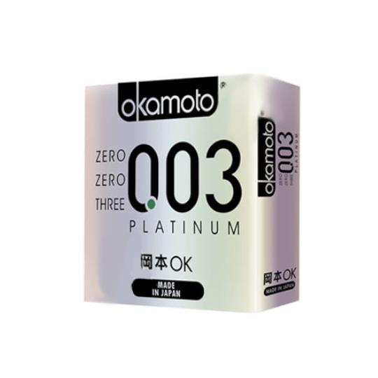 Kondom Okamoto 003 Platinum Isi 2