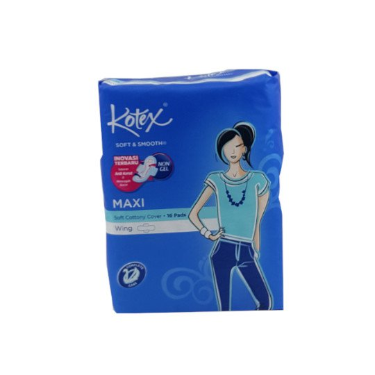 KOTEX SOFT&SMOOTH MAXI WING 16 PADS