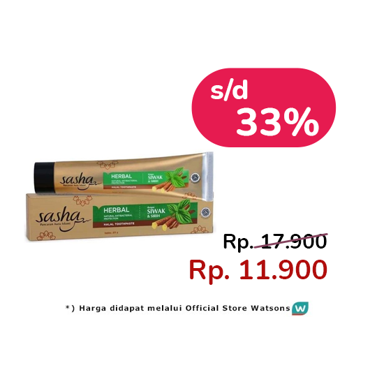 SASHA HERBAL SIWAK & SIRIH TOOTHPASTE 150 G