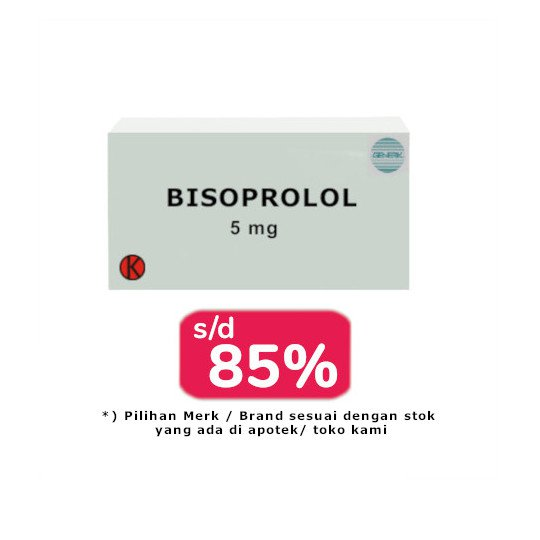 BISOPROLOL 5 MG 30 TABLET - OBAT RUTIN