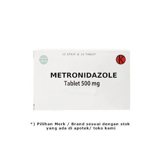 METRONIDAZOLE 500 MG 10 TABLET