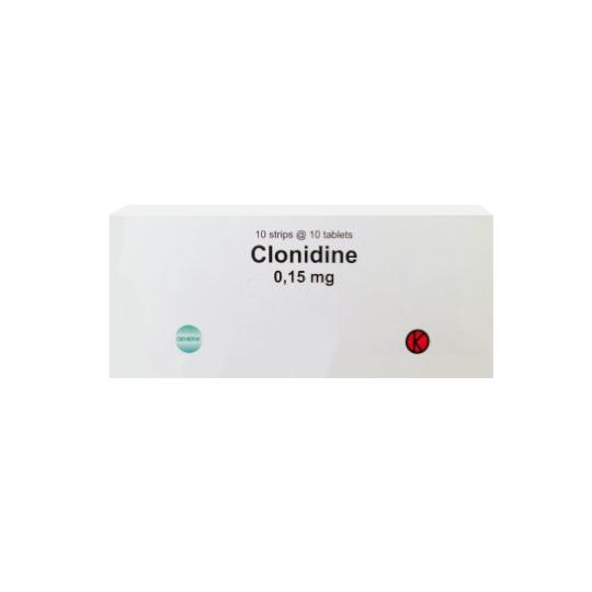 CLONIDINE 0.15 MG 10 TABLET