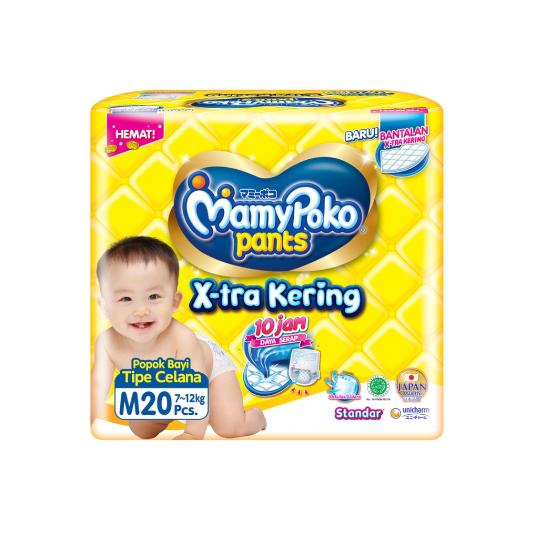 Mamy Poko Pants X-Tra Kering M 20 Pieces