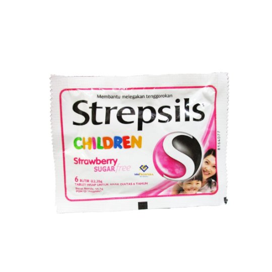 STREPSIL CHILDREN STRAWBERRY 6 TABLET