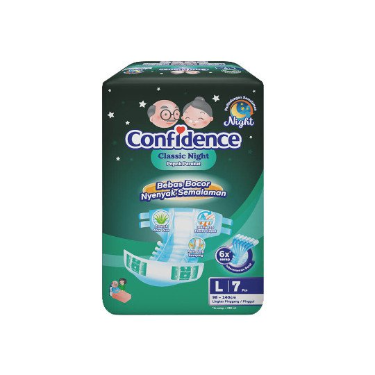 CONFIDENCE ADULT CLASSIC NIGHT L 7 PIECES