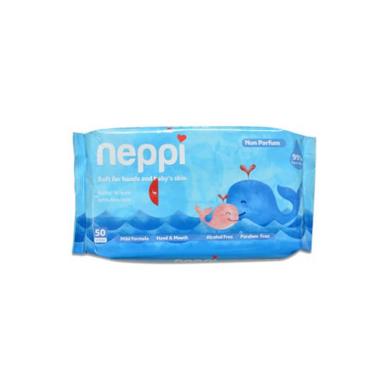 NEPPI BABY WIPES NON PARFUM 50 LEMBAR