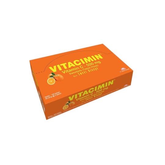 Vitacimin 500 mg Rasa Orange 100 Tablet - Lebih Hemat