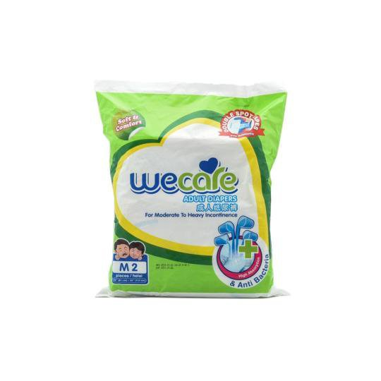 WE CARE ADULT DIAPERS M 2 PIECES
