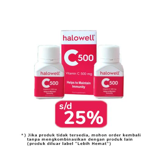 HALOWELL C 500 MG 2 BOTOL (@30 TABLET) - LEBIH HEMAT