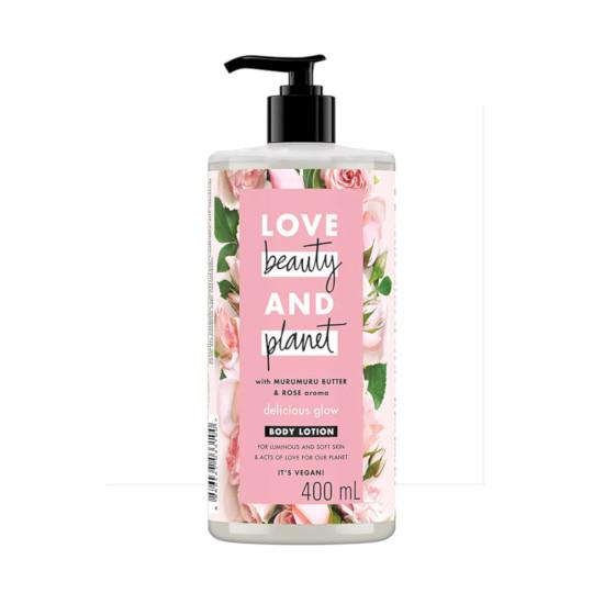 LOVE BEAUTY & PLANET MURUMURU BUTTER & ROSE DELICIOUS GLOW BODY LOTION 400 ML