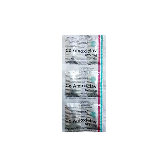 CO AMOXICLAV 625 MG 6 TABLET