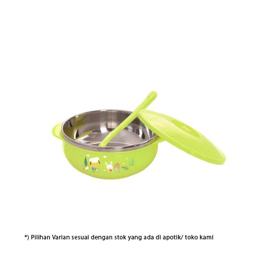 Baby Safe Stainless Bowl With Cover 450 ml