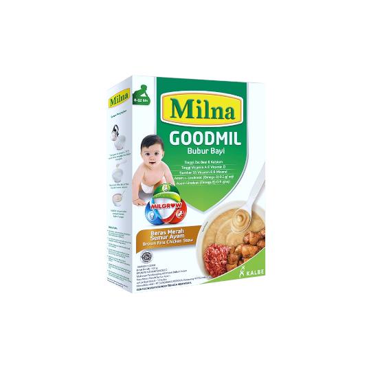 Milna 8-12 Goodmil Bubur Beras Merah Semur Ayam 120 g