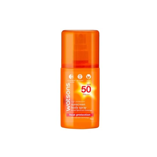 WATSONS HIGH PROTECTION SUN BODY SPRAY SPF50 90ML