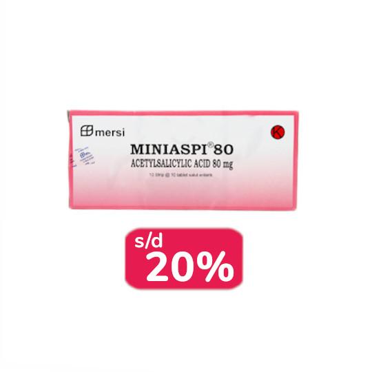 Miniaspi 80 mg 30 Tablet - Obat Rutin