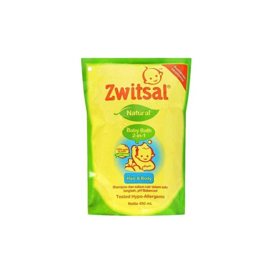 ZWITSAL BABY BATH NATURAL 2 IN 1 HAIR & BODY 450 ML