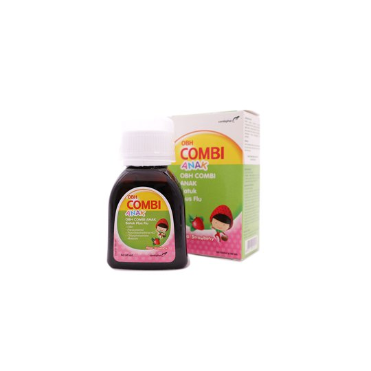 OBH COMBI ANAK BATUK PLUS FLU STRAWBERRY 60 ML