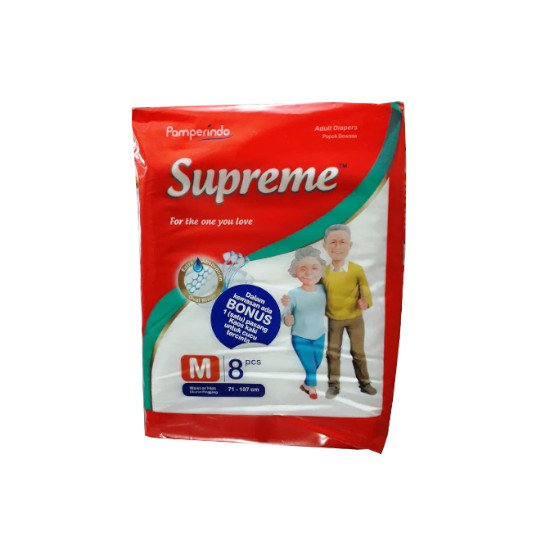 SUPREME ADULT DIAPERS M 8 PIECES