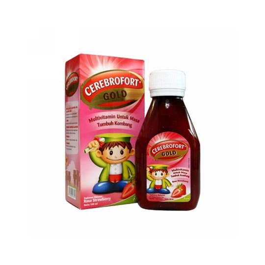 CEREBROFORT GOLD SIRUP STRAWBERRY 200 ML