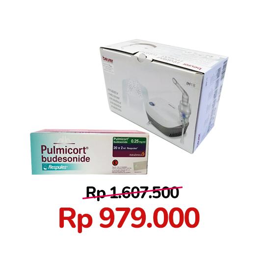 Paket Pulmicort 0.25 mg/ml 20 Respules + Beurer IH 18 Compressor Nebulizer
