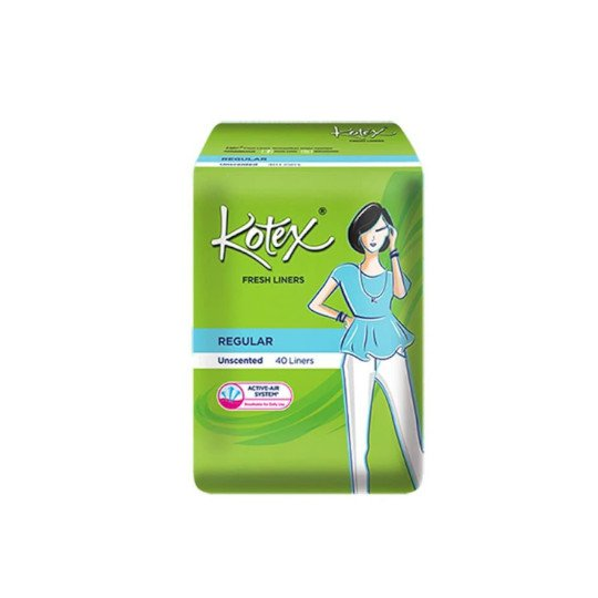 KOTEX FRESH LINER UNSCENTED 40 PADS