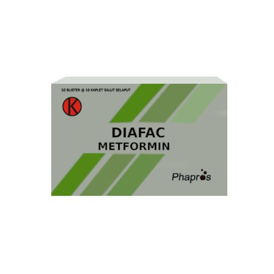 DIAFAC 500 MG 10 TABLET
