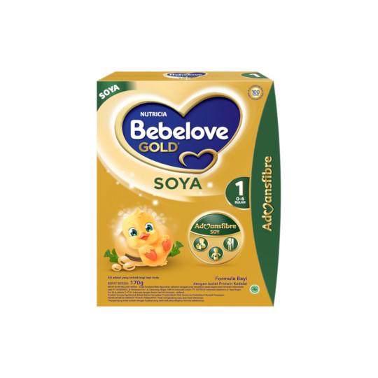 BEBELOVE GOLD SOYA 1 FORMULA SOYA BAYI BUBUK 170 G