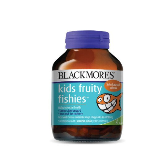 BLACKMORES KIDS FRUITY FISHIES 30 KAPSUL