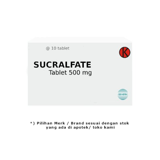 Sucralfate 500 mg 10 Tablet