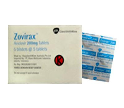 ZOVIRAX  200 MG 5 TABLET
