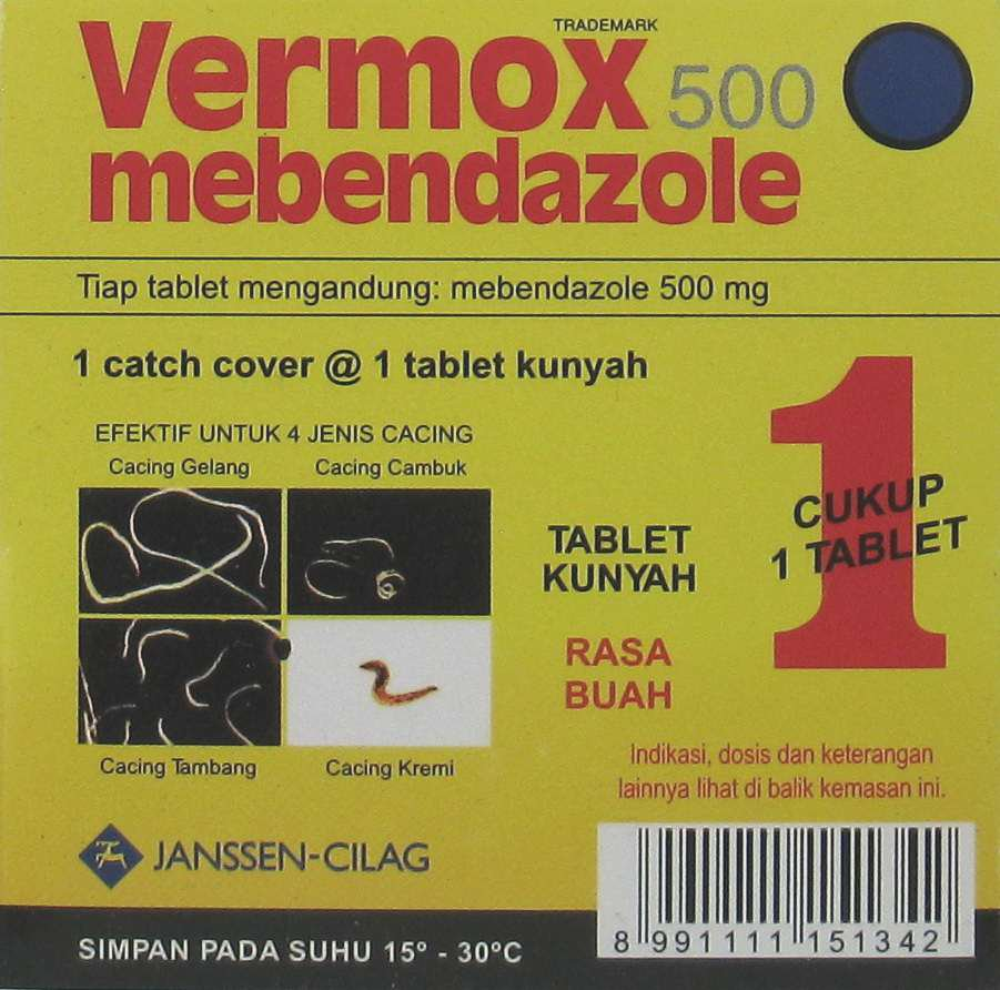 VERMOX TABLET 500 MG